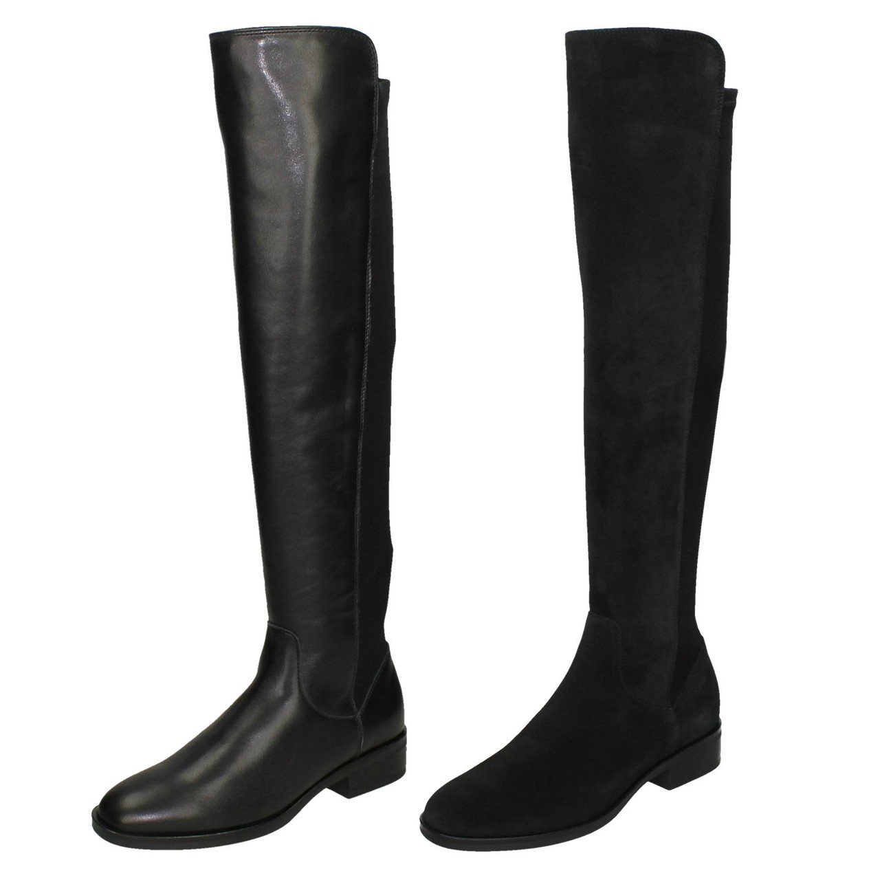 Ladies Clarks Over the Knee Boots Pure