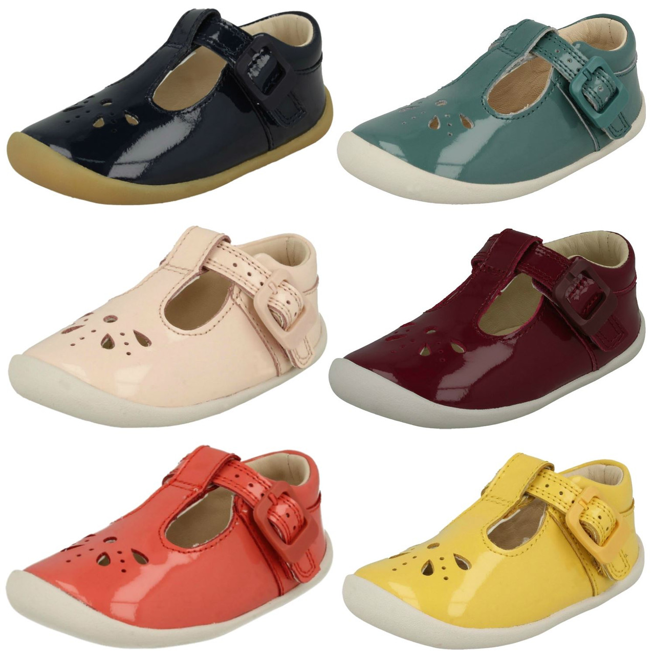 GIRLS CLARKS PINK LEATHER SHOES LILFOLKLOU