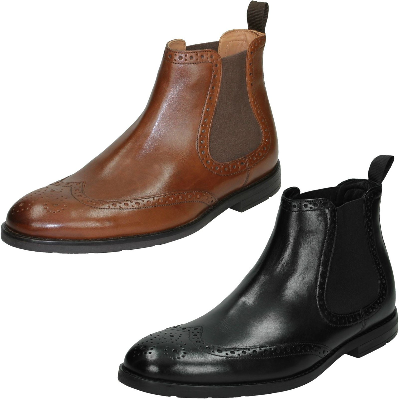 Mens Clarks Formal Ankle Boots Ronnie Top