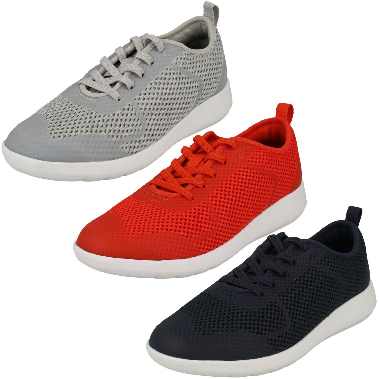 Boys Clarks Lace Up Trainers Frisbyrise