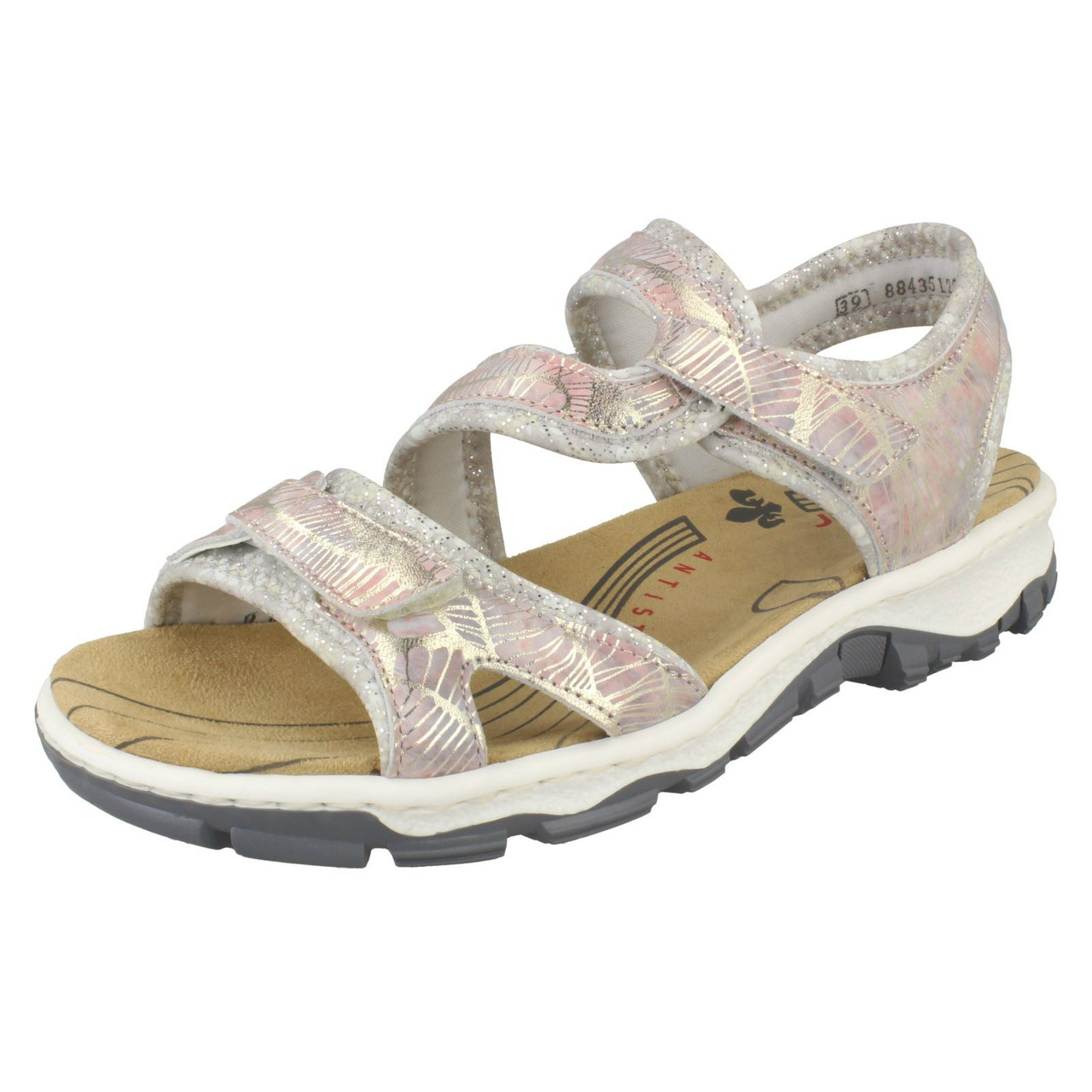 Ladies Rieker T-Bar Smart Sandals /'63478/'