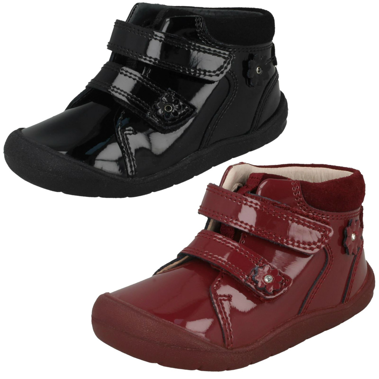 Startrite Whisper Black Leather Ankle Boots In Various Sizes