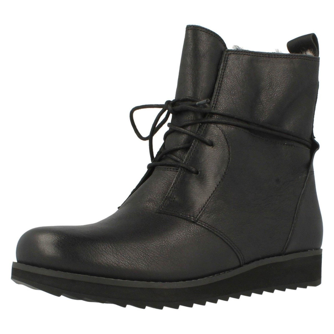 Ladies Clarks Lace Up Wedge Ankle Boots