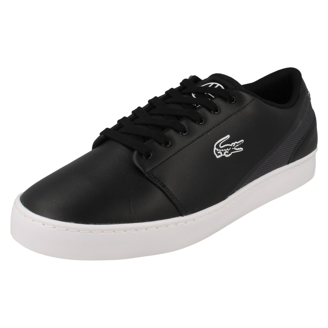 all black lacoste shoes