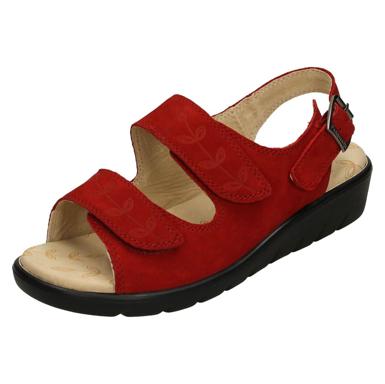 Ladies Padders Wide Fitting Sandals Nutmeg