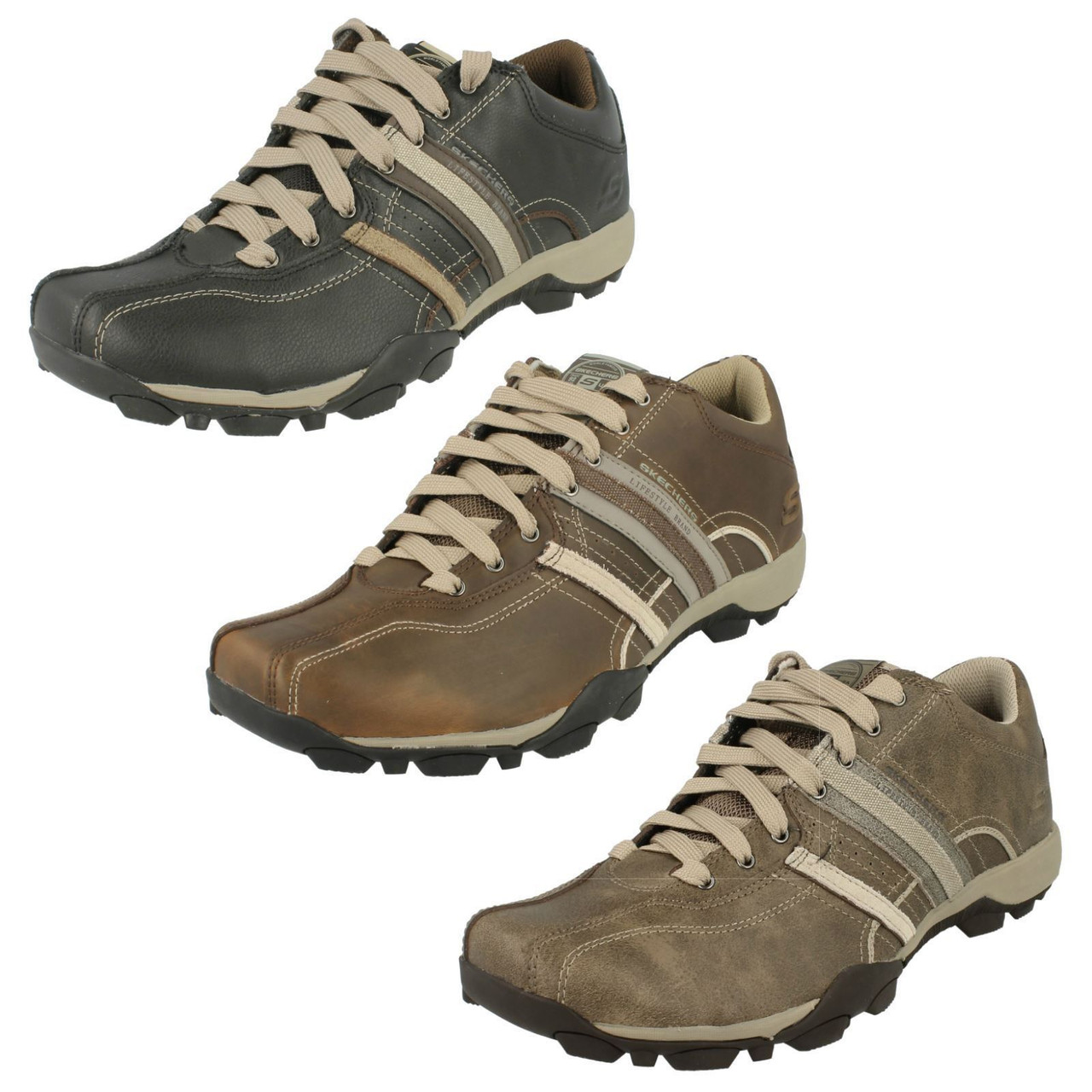 Mens Skechers Casual Leather Shoes Urban Tread Refresh 50856
