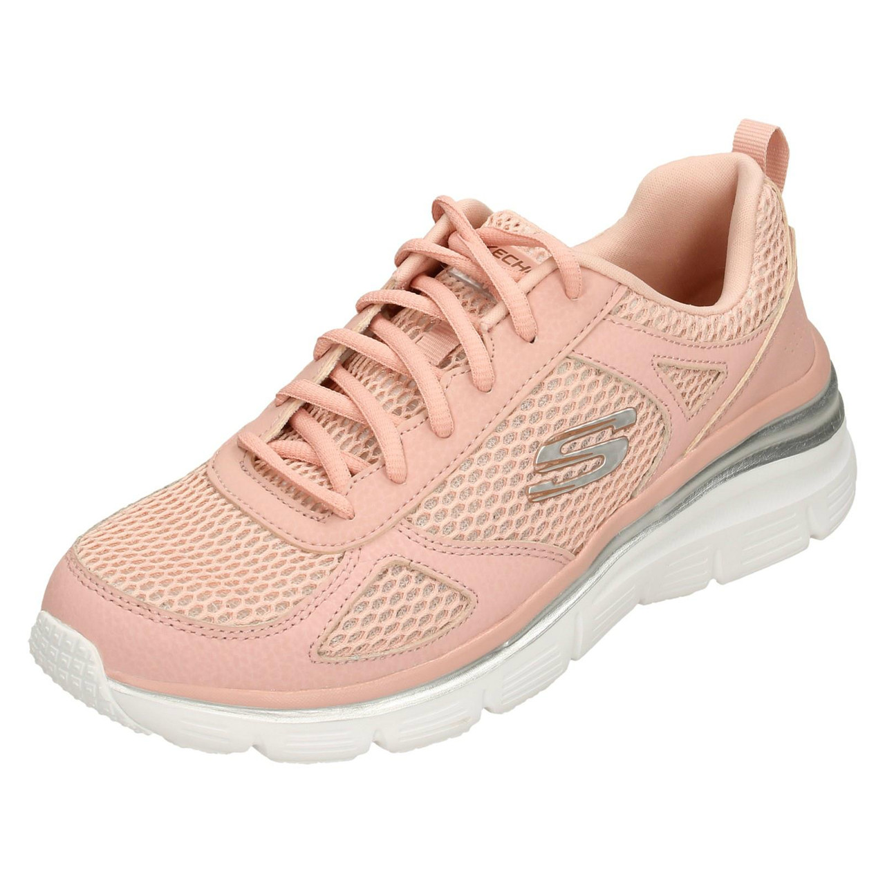 Ladies Skechers Perfect Mate Trainers With Memory Foam