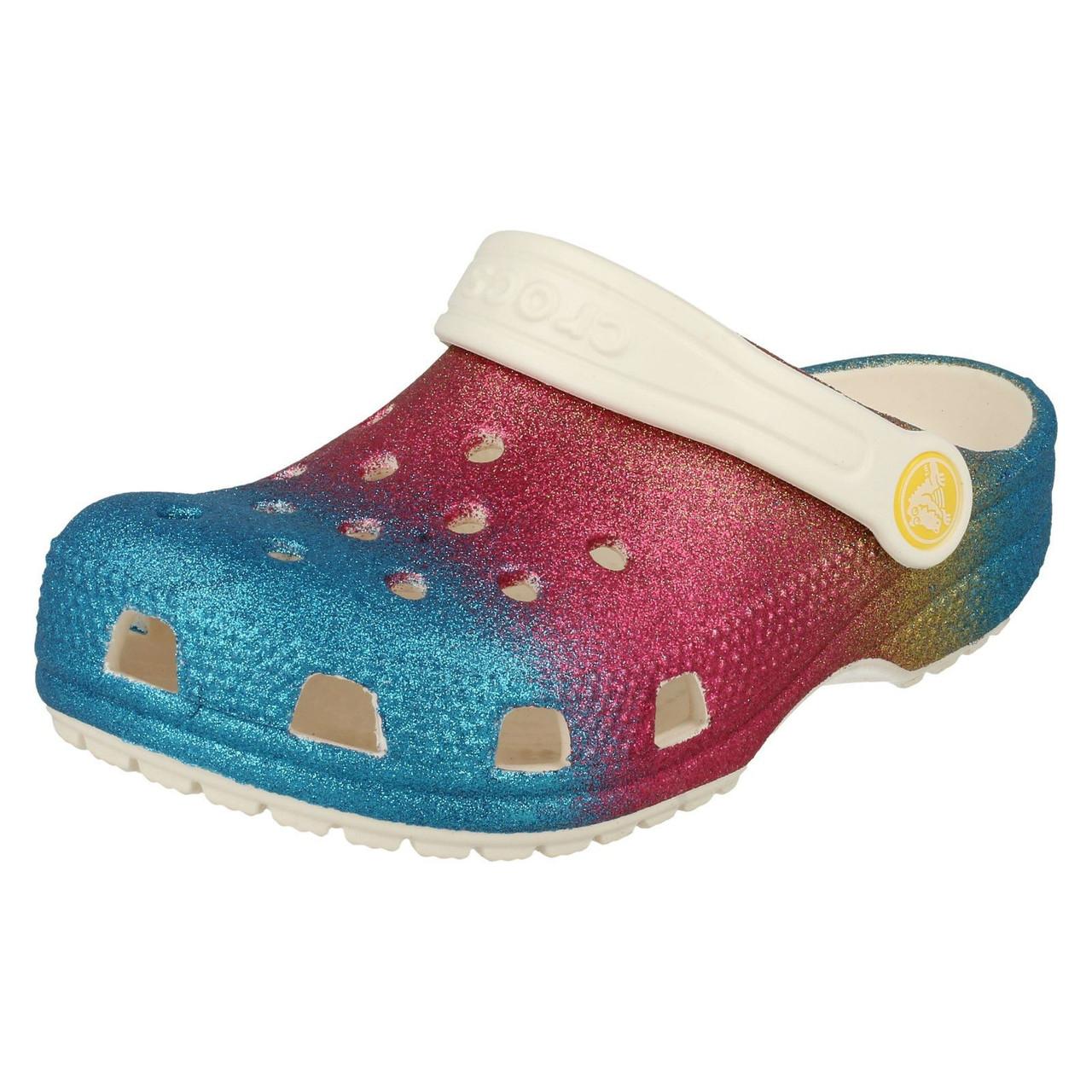 Girls Crocs Glitter Detailed Clog