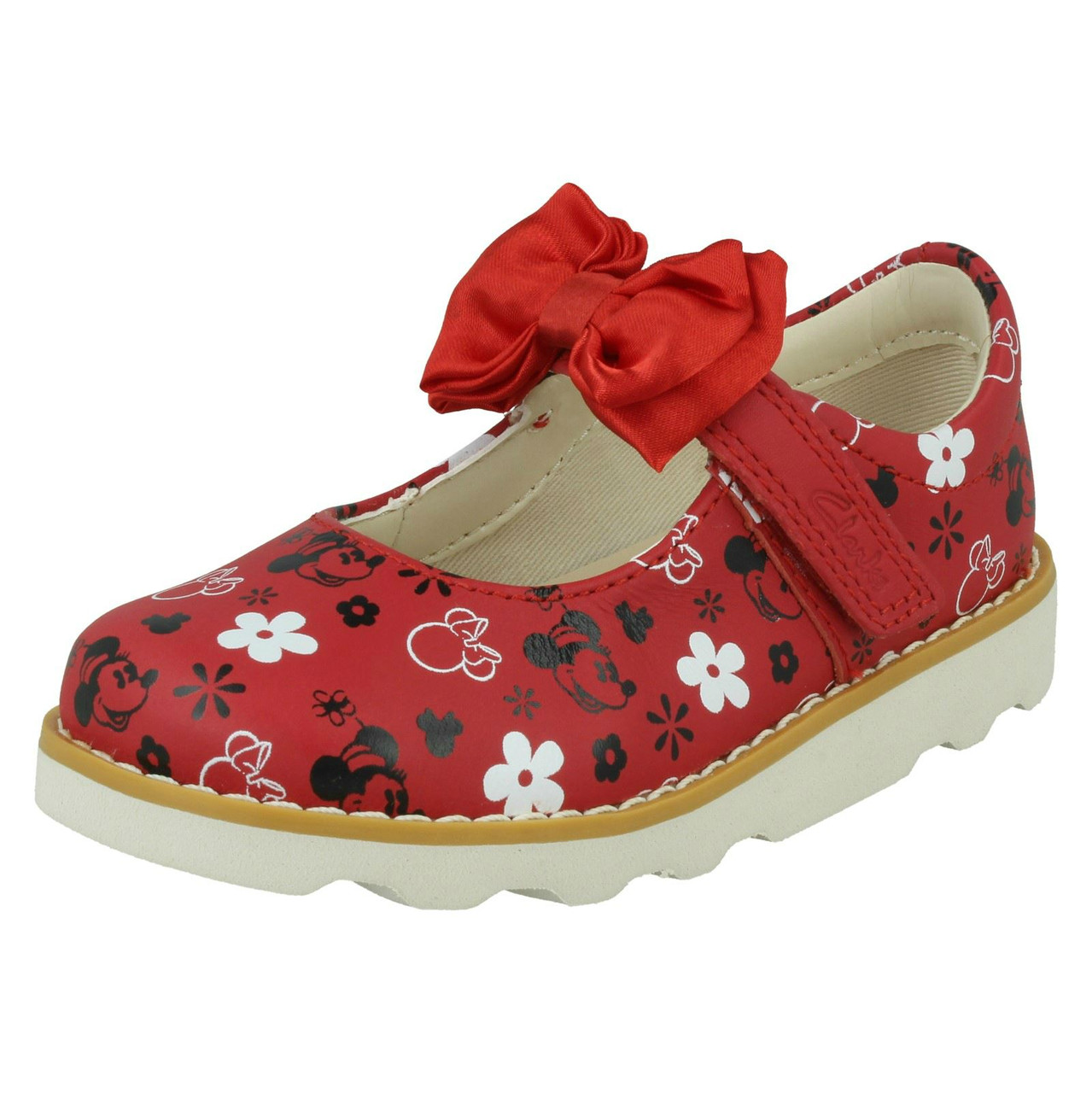 Girls Clarks Minnie Mouse Design Shoes