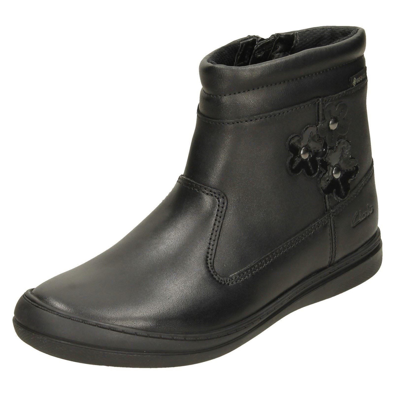 Details about  /Girls Clarks Flower Detailed Ankle Boots ScooterGoGTX