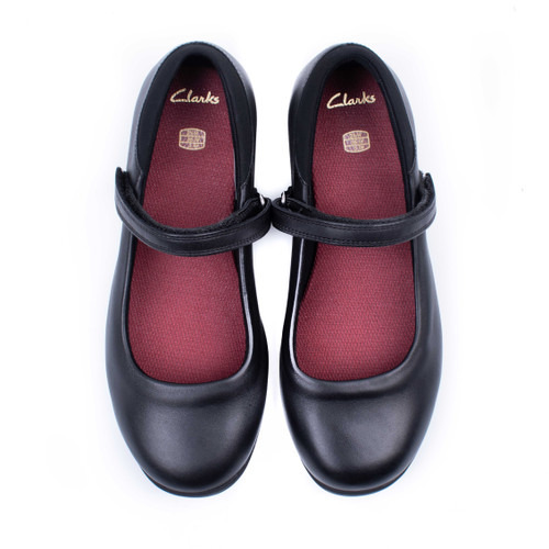 Girls Clarks Hook & Loop School Shoes Jamie Star