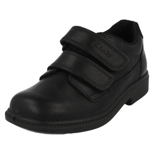 Clarks Boys Leather Classic School Shoe Deaton