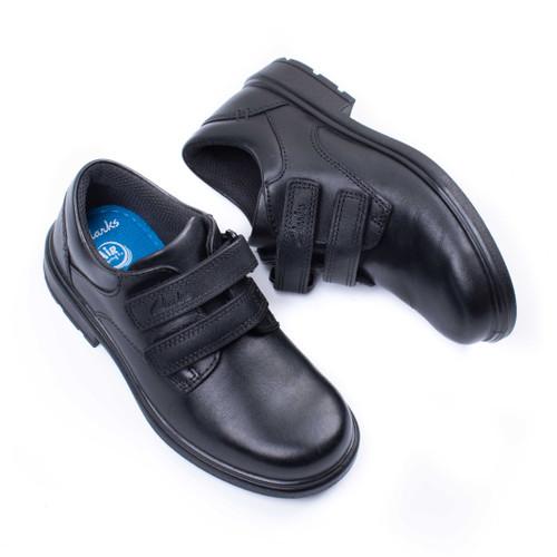 Boys Clarks Double Strap School Shoes Remi Pace
