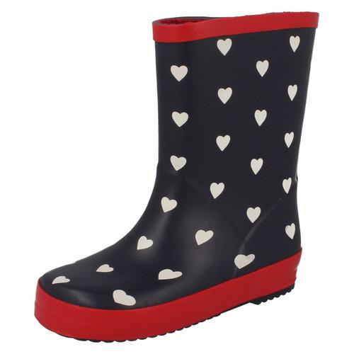 Girls Clarks Cloud Print Wellington Boots /'Tarri Patch/'