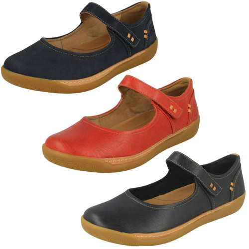 Ladies Clarks Comfort Everyday Mary Jane Style Flats Ordell Becca