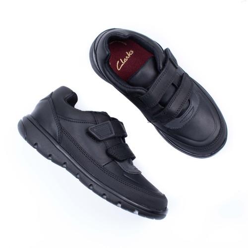 Boys Clarks Hook & Loop School Shoes Venture Walk