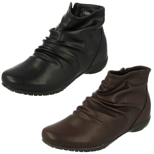 Down To Earth Ladies Ankle Boots