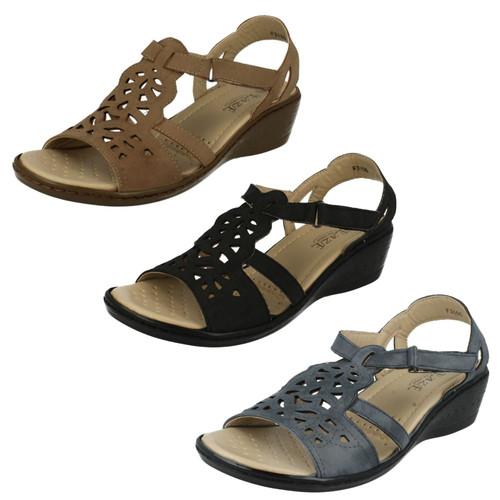 Ladies Eaze Comfort Wedged Sandals