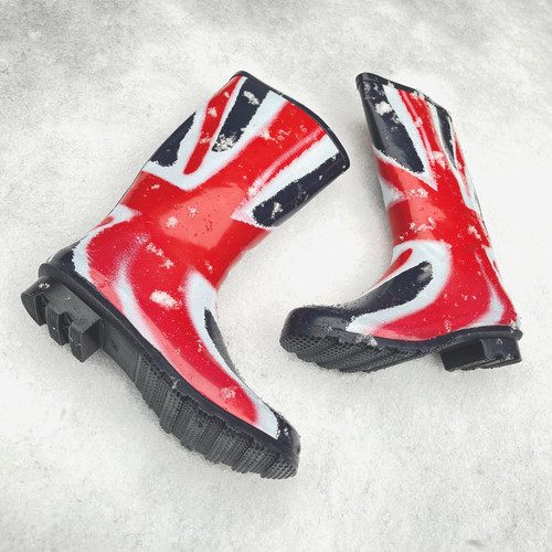 Ladies Spot On Union Flag Wellington Boots