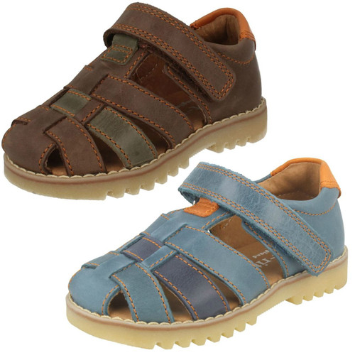 SR Soft Caleb Navy Leather Boy/'s Velcro Sandal