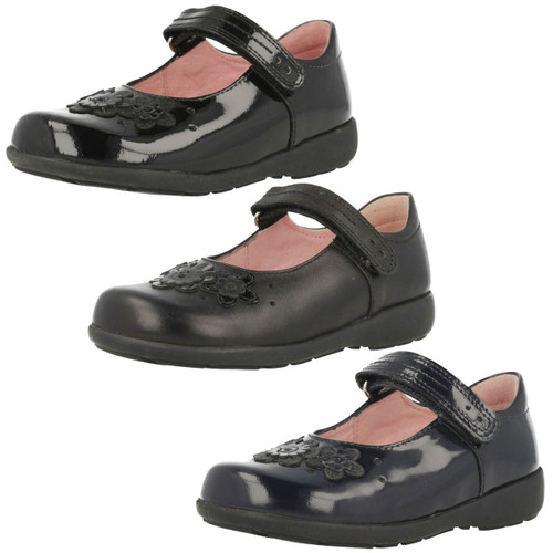 Junior Girls Clarks Slip On Ballerina Style School Shoes Abitha Joy