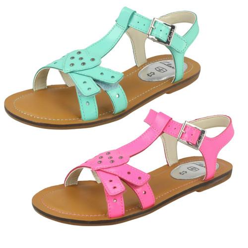 Details about  /Girls Clarks Loni Joy Flat Summer Gladiator Sandals