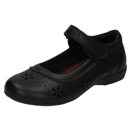 Girls Black Cool 4 School Shoes UK Sizes 10-3 H3049