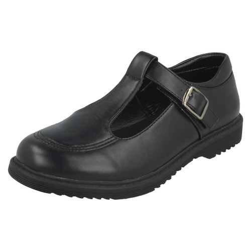 Girls Cool For School T-Bar Buckle School Shoes