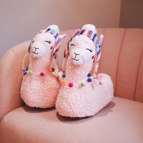 Ladies Spot On Novelty Llama Slippers 'X2R105'