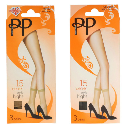 Womens Pretty Polly 15 Denier Soft Shine Tights PNAC20