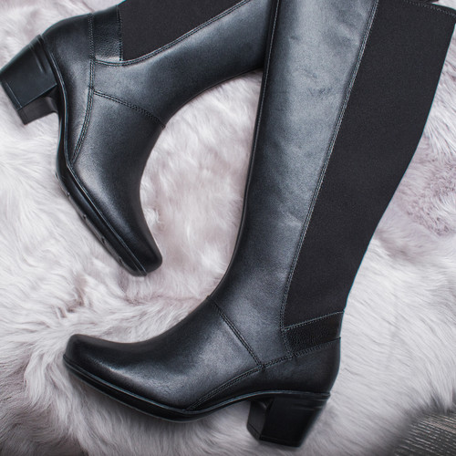 Ladies Clarks Heeled Knee High Boots Emslie Emma