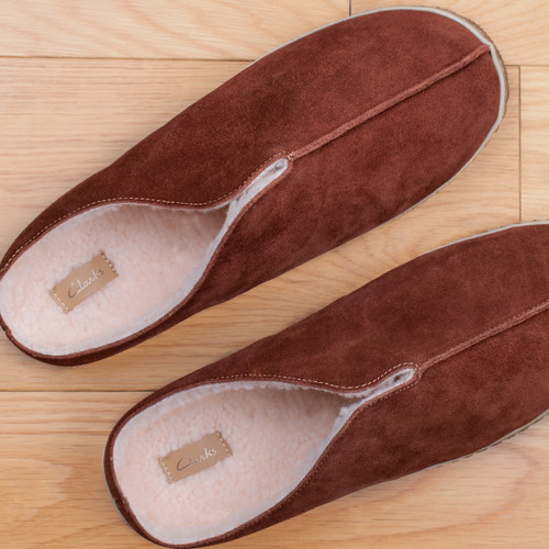Mens Clarks Warm Lined Mule Slippers Home Style