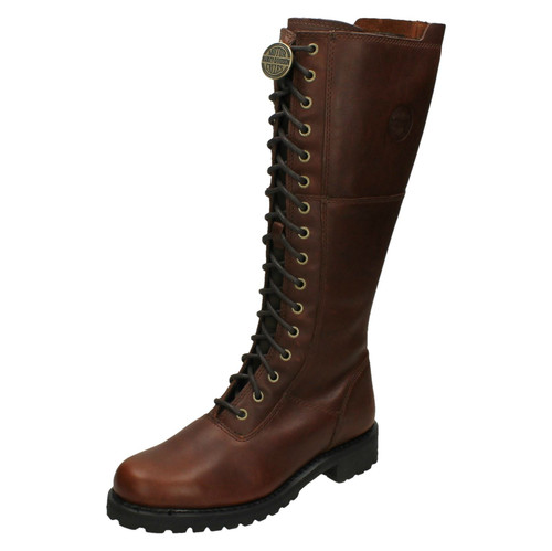 Ladies Harley Davidson Knee High Boots Walfield