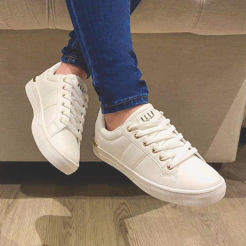 Ladies ELLE SPORT Stylish Lace Up Trainers F7188