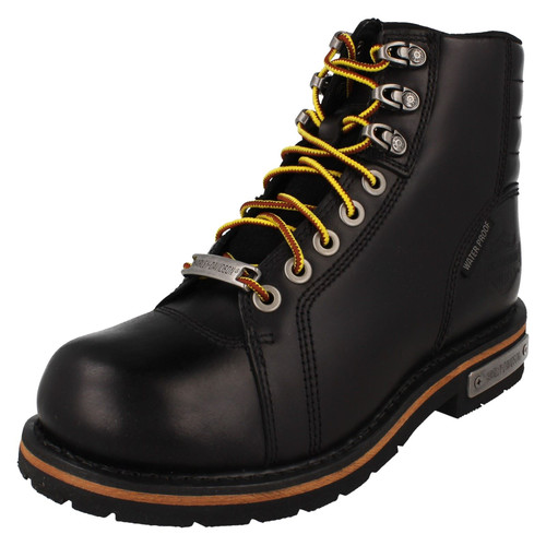 Mens Harley Davidson Lace Up Ankle Boots - Cranstons