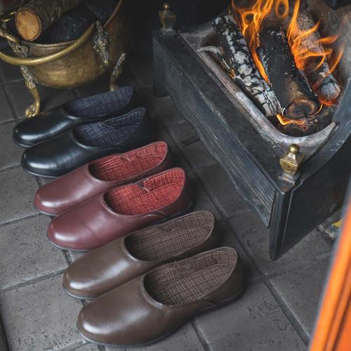 Mens Maverick Comfort Leather House Slippers - X2R124