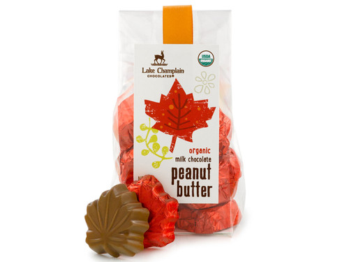 Organic Peanut Butter Chocolate Leaves Gift Bag View Product Image