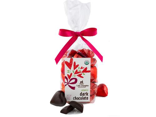 Organic dark chocolate Valentine hearts View Product Image