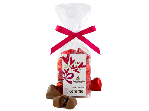 Milk chocolate caramel Valentine hearts View Product Image