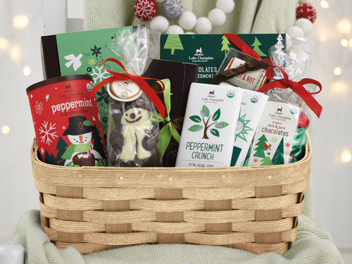 Holiday chocolate gift basket View Product Image
