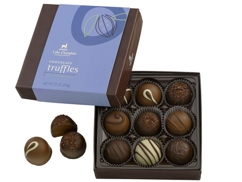 Assorted chocolate truffles 9 piece gift box View Product Image