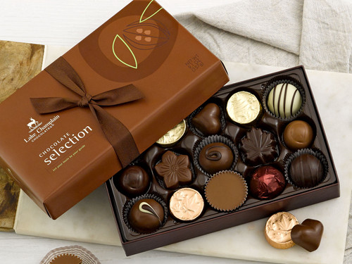 Assorted gourmet chocolates in a 15pc selection gift box View Product Image