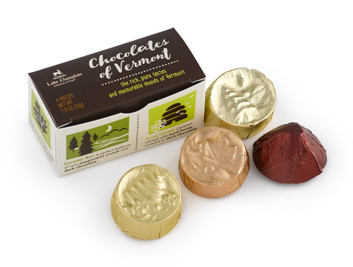 Assorted Chocolates of Vermont 4pc sampler gift box View Product Image