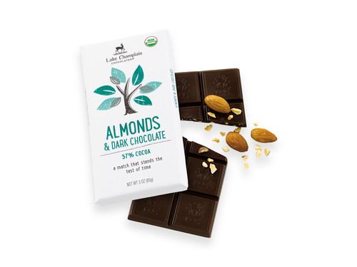 Organic Dark Chocolate & Almonds Bar View Product Image