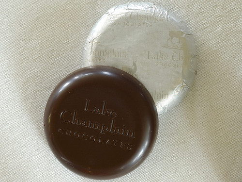 Bulk Mint Organic Dark Chocolate Coins wrapped in a silver-white foil View Product Image