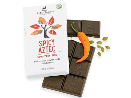 Spicy Aztec Organic Dark Chocolate Bar View Product Image