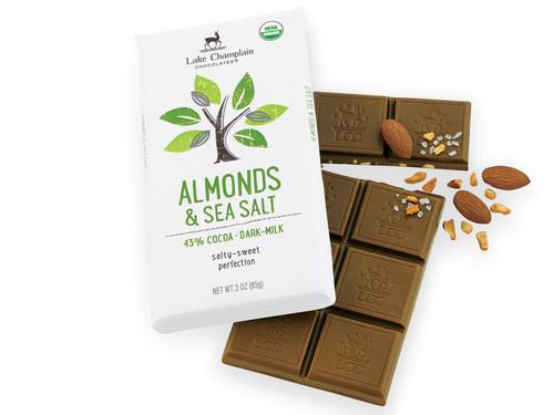 Organic Milk Chocolate Sea Salt & Almond Bar View Product Image