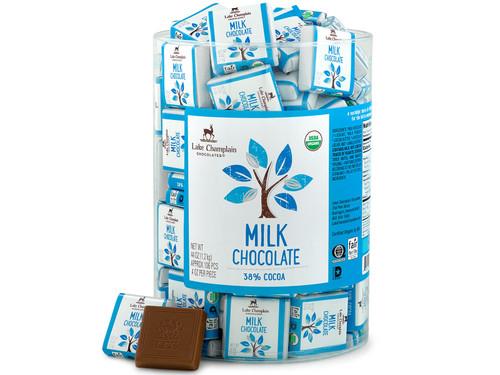 Organic Milk Chocolate Squares in bulk View Product Image