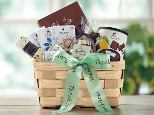 Thank You Chocolate Gift Basket View Product Image