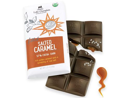 Organic Salted Caramel Dark Chocolate Bar View Product Image